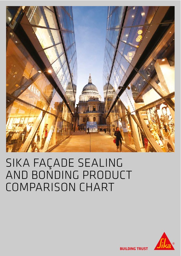 Sika Facade Sealing & Bonding Product Comparison Chart